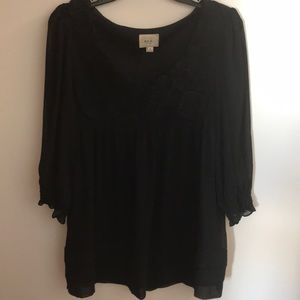 Black Top with rosettes